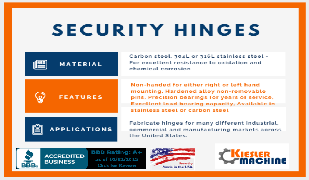 Security Heavy Duty Hinges