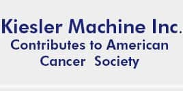 Kiesler machine contributes to Americal Cancer Society